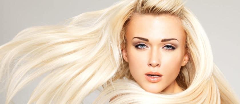blonde hair highlights on South Miami Beach model