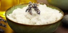 Salt scrubs are a popular organic skin treatment at McAllister Spa